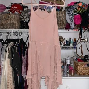 Distressed pink dress